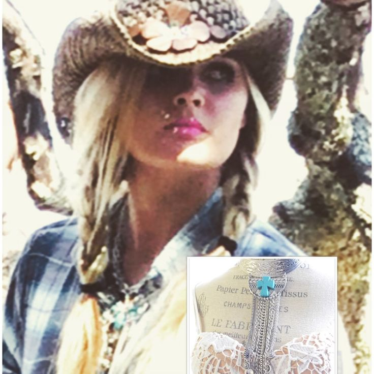 Gypsy cowgirl statement necklace ~ the perfect statement piece to go with my dusters ~ social media promo