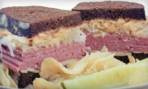Groupon - $9 for $18 Worth of Sandwiches, Chips, and Drinks at Frank's NY Deli in Arden in Arden. Groupon deal price: $9.0.00