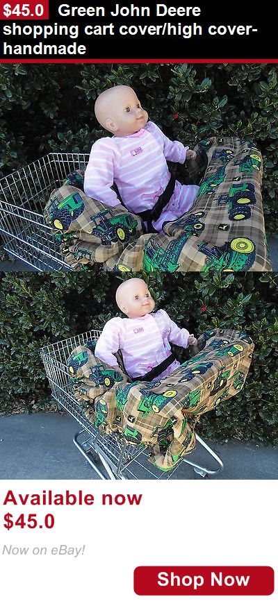 Baby Safety Shopping Cart Covers: Green John Deere Shopping Cart Cover/High Cover-Handmade BUY IT NOW ONLY: $45.0