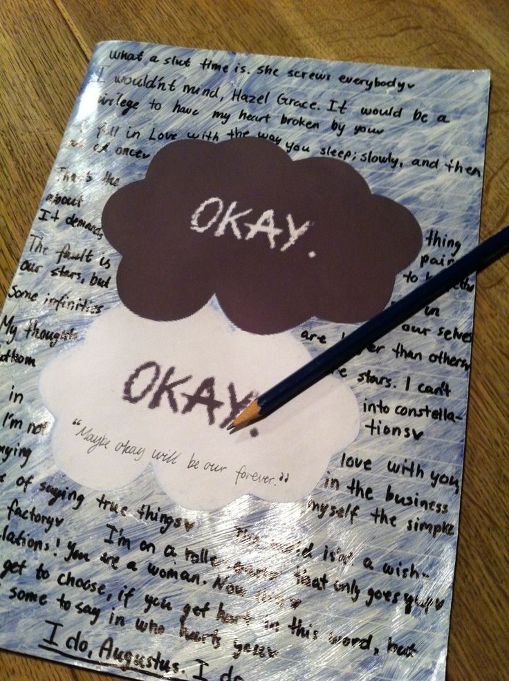 DIY School notebook Inspired by The Fault In Our Stars ...