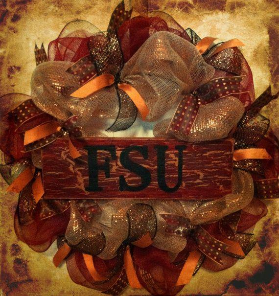 Florida State Seminoles Wreath, FSU Football, College Football, SEC, GO Noles