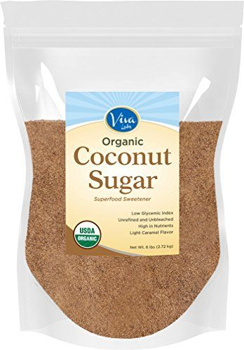 Viva Labs Organic Coconut Sugar: Non-GMO, Low-Glycemic Sweetener, 6 lbs Bag Viva…