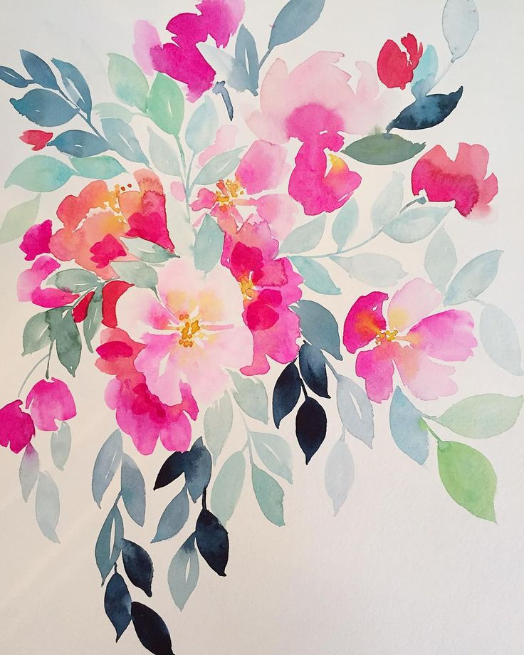 25 best ideas about watercolor flowers on pinterest for Floral painting ideas