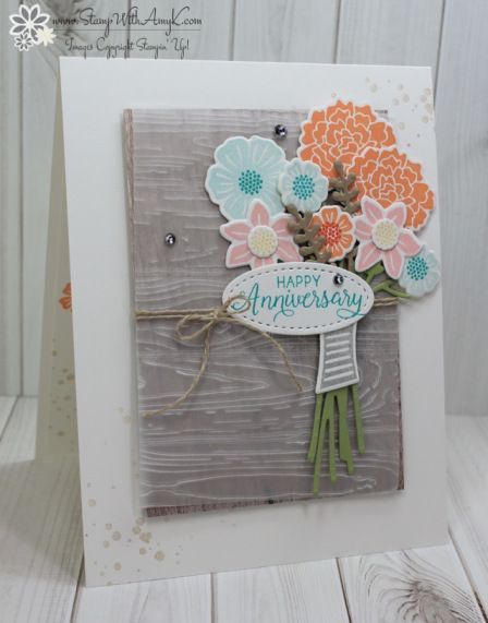 Stampin' Up! Beautiful Bouquet Anniversary Card – Stamp With Amy K