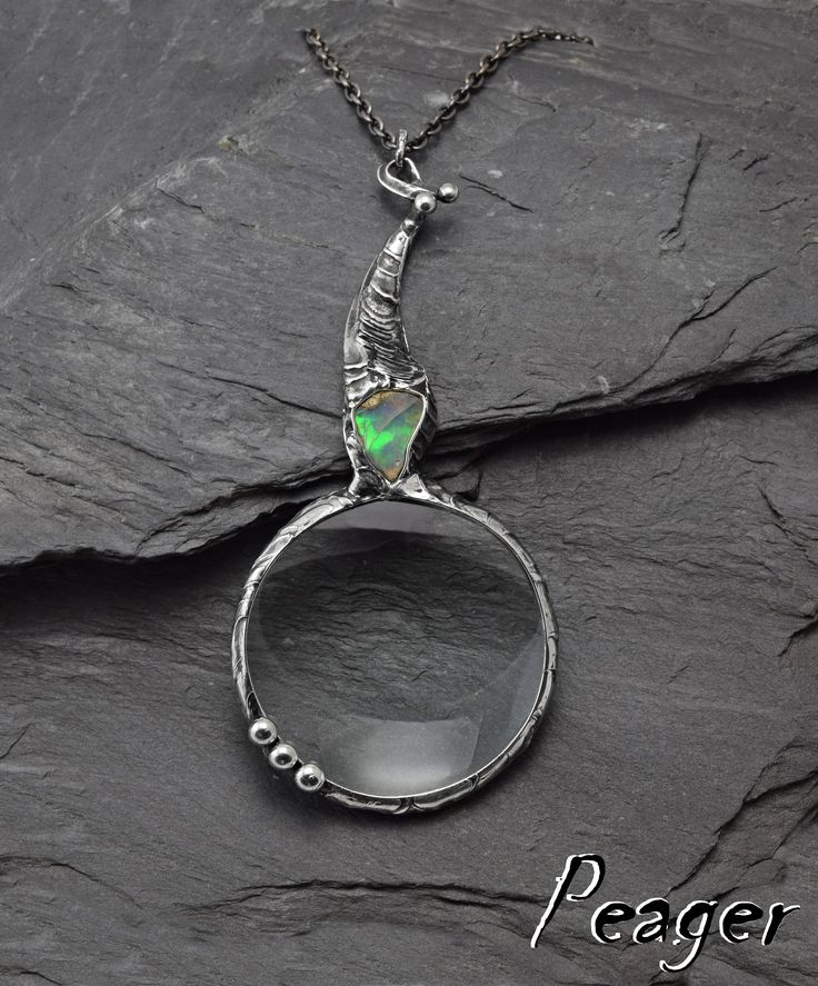 VIDEO !! Ethiopian Opal Loupe Pendant,Loupe necklace,Nostalgic loupe,Opal pendant,Loupe necklace jewelry,art pendant,Loupe jewelry,gift by PeagerFantasyWorld on Etsy