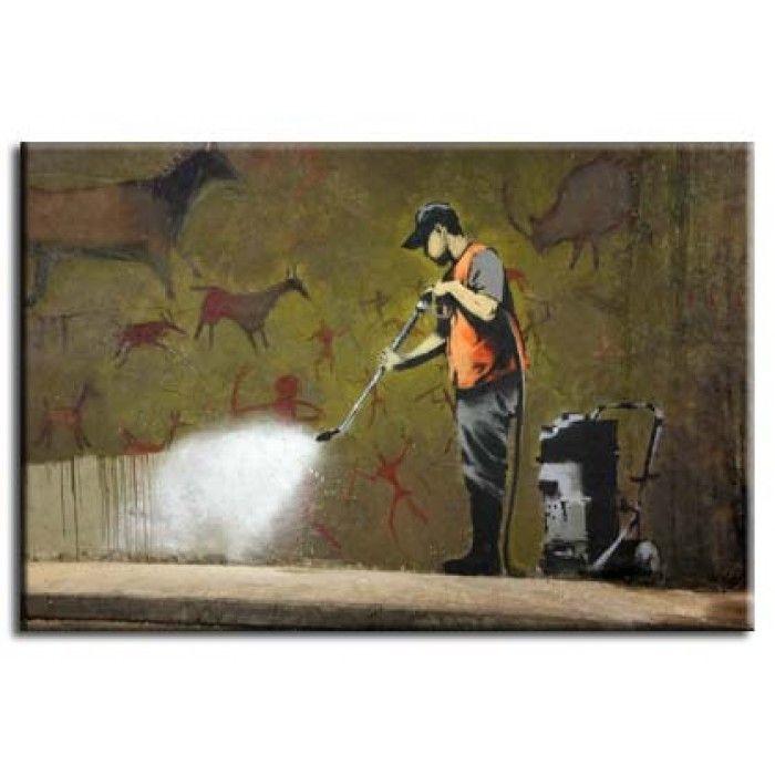 The Banksy Shop - Banksy Canvas Print - Graffiti Cleaner, £29.95 (http://www.thebanksyshop.co.uk/banksy-canvas-print-graffiti-cleaner/)