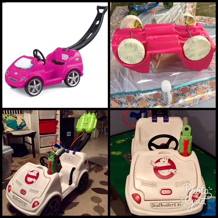 Little Tikes makeover to Ghostbusters Car.