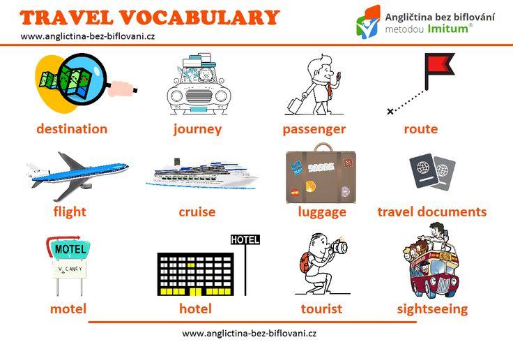 Dnes je Světový den cestovního ruchu (Světový den turistiky). Obohaťte svoji slovní zásobu o tematická slovíčka. #travelling #vocabulary
