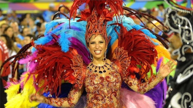 Rio's Carnival. It's all about colours.