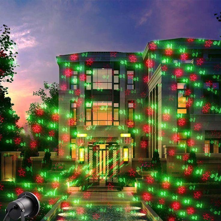 laser christmas lights laser spotlight waterproof christmas lights outdoor laser projector decorations for home yard party - Christmas Laser Projector Lights