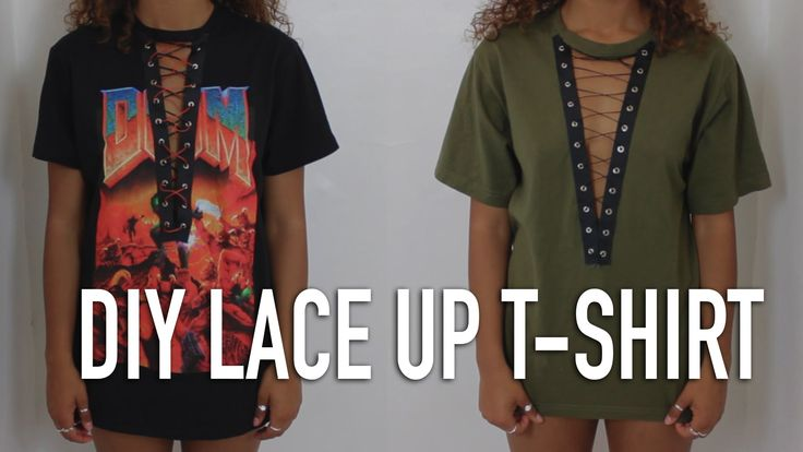 DIY No Sew Lace Up T-Shirt | Zalie Cannonier