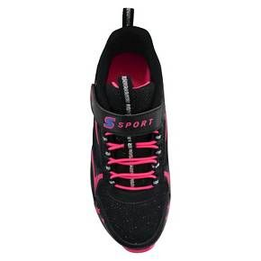 • Leather/Polyurethane upper for reliable comfort<br>• Indoor/Outdoor EVA outsole for real wear and comfort<br>• Durable traction sole for reliability when active<br>• Cool glitter accents with stars for a stellar look<br><br>The Big Girls' S Sport by Skechers Sunburst 2.0 Performance Athletic Shoes in Black has sporty style for fashion or fitness. Skechers sneakers pull the two worlds together in the most delight...