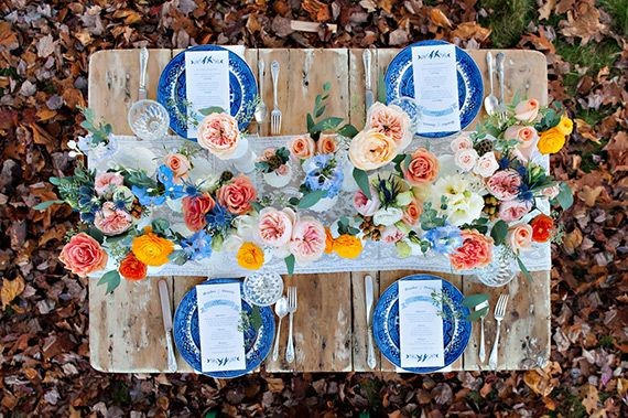 Cobalt blue wedding inspiration | Photo by Candace Berry Photography | Read more - http://www.100layercake.com/blog/?p=70340