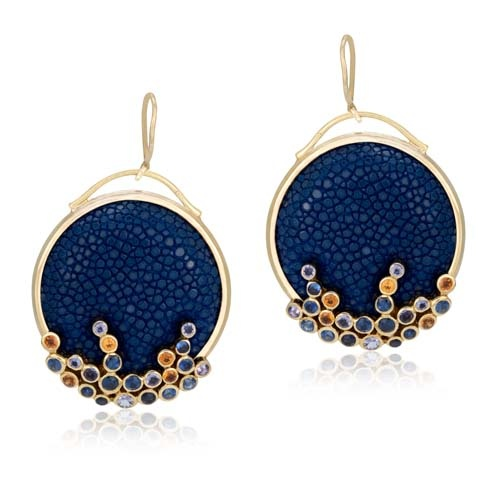 Earrings stingray fashion jewels luxury stingray leather