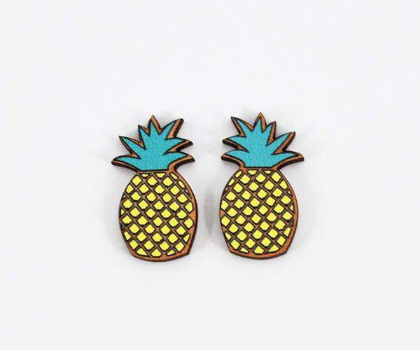 Super-cute #pineapple #earrings by Love Ikandi, a Queensland based business. All jewellery is designed and made in Australia.