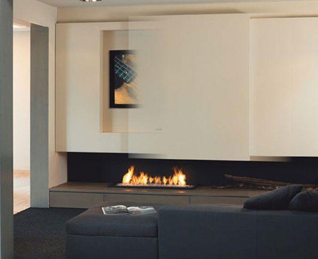 Minimalist Fireplace Design With Tv Set Sliding Fireplace Tv: Fireplace Designs With Tv Above Foto Wallpaper 01