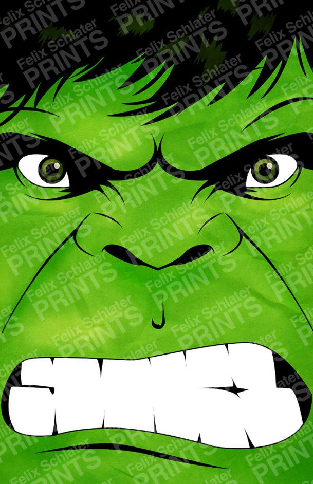 Superhero Series The Hulk Poster Print par felixschlaterprints