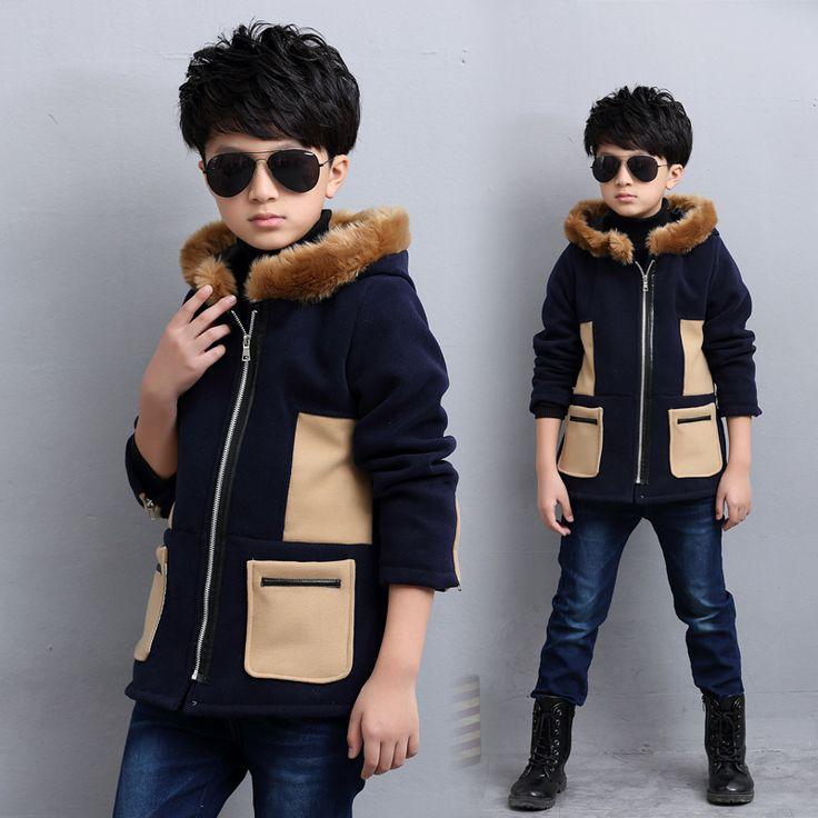 Thumbaby Baby Boys Winter Warm Jacket Coat Children Winter Boys Fashion Outwear…