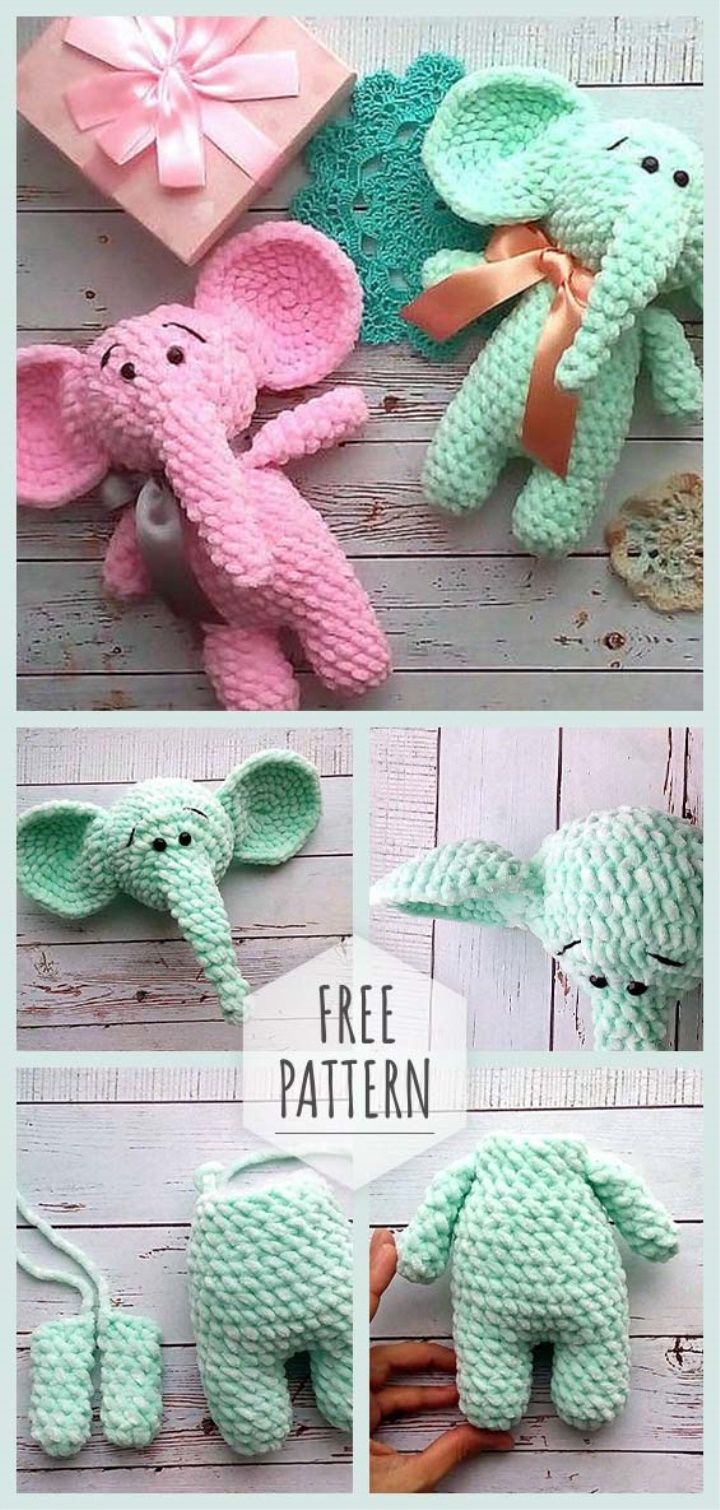 Amigurumi Soft Elephant Pattern   Amigurumi   Crochet elephant