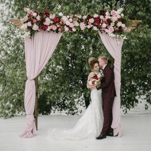 От розового до марсалы. Свадьба Алексея и Маргариты