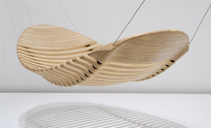 A wooden hammock by Aussie designer Adam Cornish.