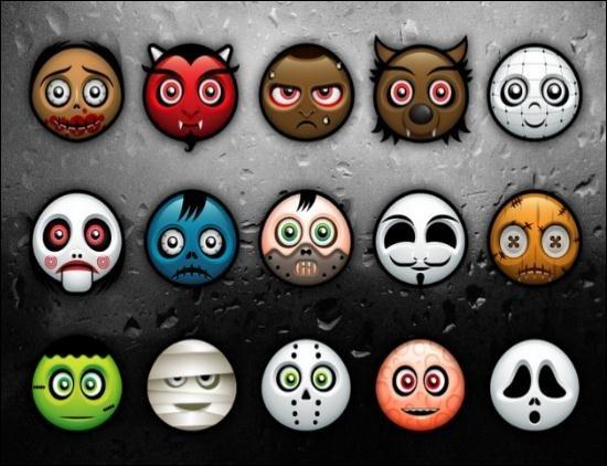 Halloween avatar-icon-pack