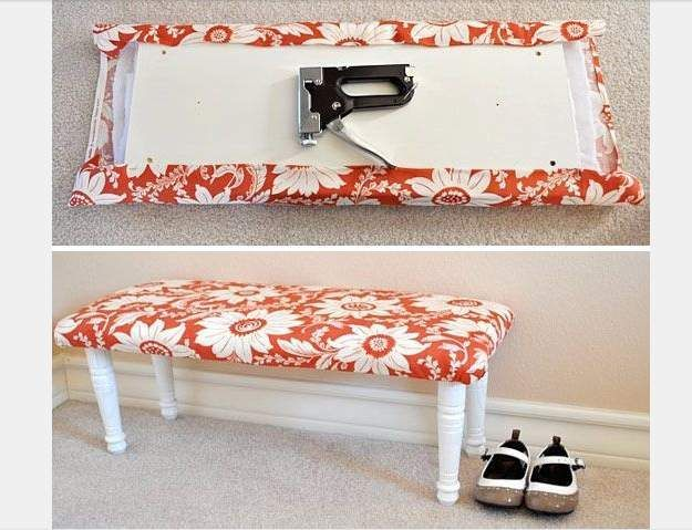 upholstered bench home depot and hacks on pinterest. Black Bedroom Furniture Sets. Home Design Ideas