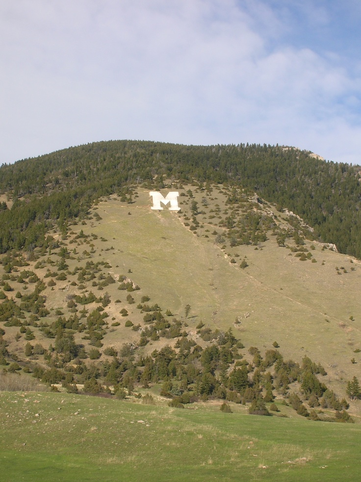 "M"" in the Bridger Mts in Bozeman, Montana"