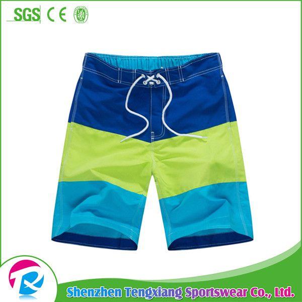 Wholesale 4 Way Stretch Men Beach Wear Swim Trunks Board Shorts