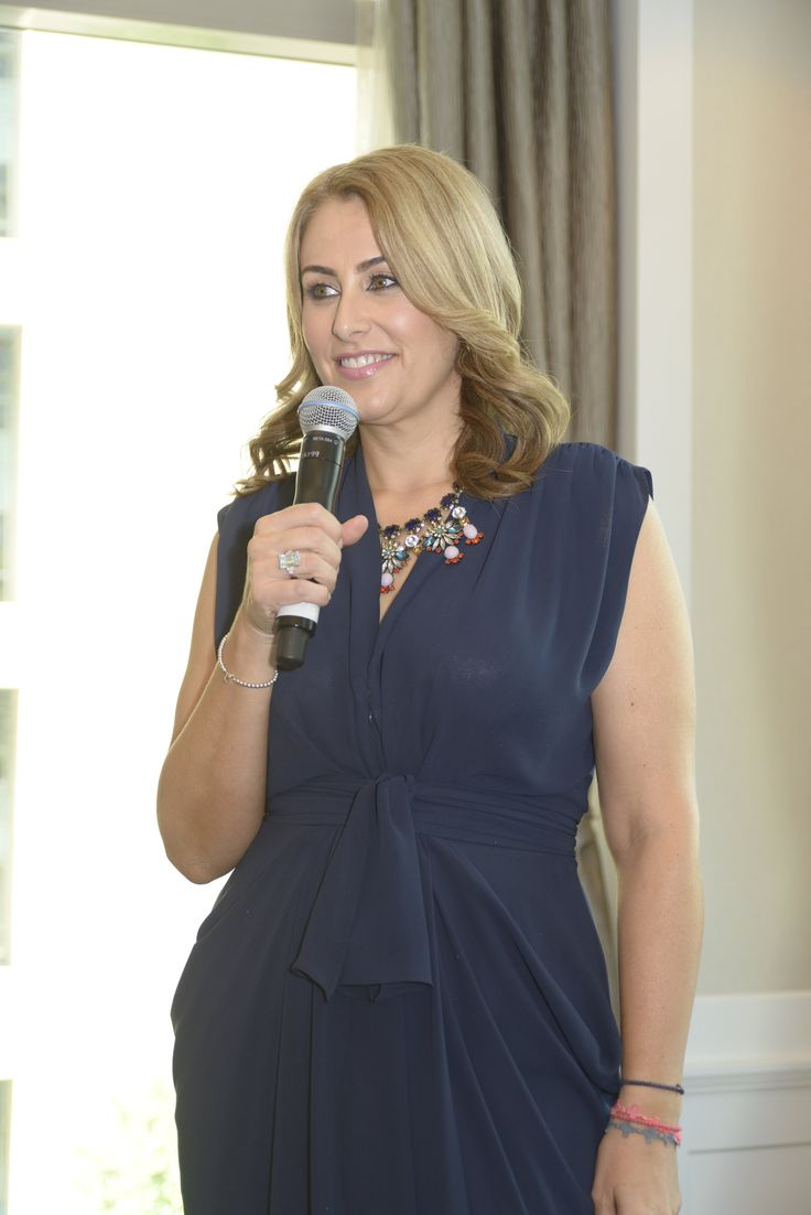 I got to wear a stunning navy Carla Zampatti dress for day two of the event. Loved it!