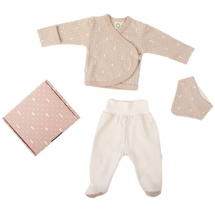 Cena: 119.00zł. Eksresowa wysyłka od ręki. ZESTAW PREZENTOWY - BEŻOWY łotewskiej firmy... więcej na www.Tublu.pl #newborn #baby #clothing #clothes #organic #eco