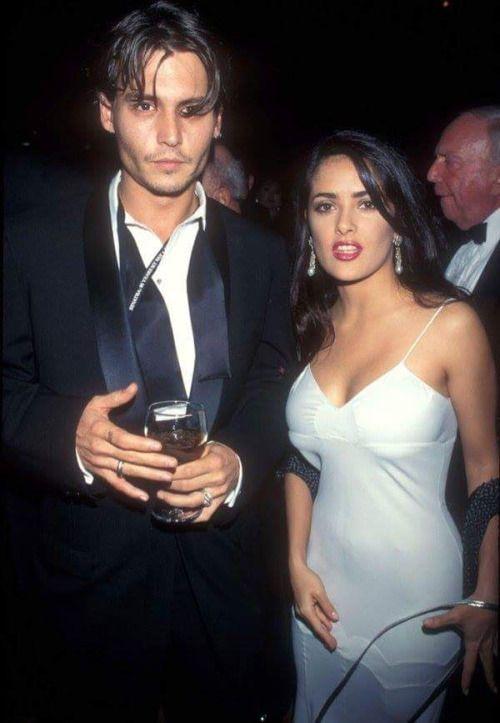 Johnny Depp and Salma Hayek, 1995.