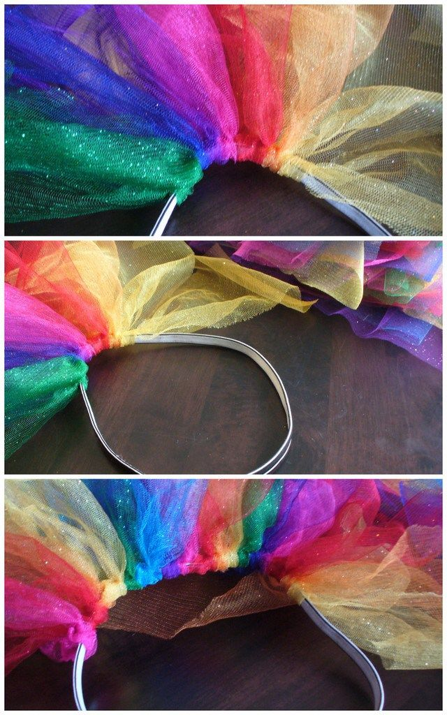 DIY rainbow tutu