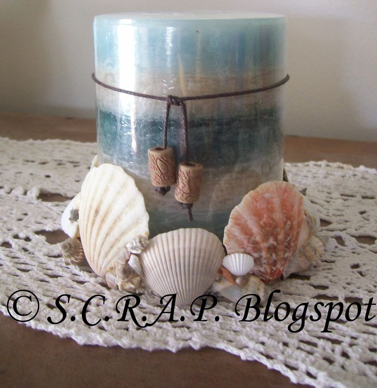 What y ou need: ~plastic li d (I used a plastic li d from a large peanut canister) ~sea shells ~st rong glue (I used E6000) ...