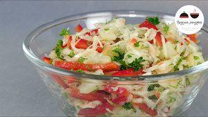 Фото к рецепту: Теплый ПОСТНЫЙ картофельный салат - ОЧЕНЬ вкусно и бюджетно!