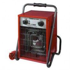 Eurom kachel heater 5000Watt  Specificaties:   - Capaciteit: 5000W  - Instelmogelijkheden: 2500/5000W  - Aanslu itingspanning: 400-3 / 50 V/Hz  - Motorvermogen: 44 Watt  - isolatieklasse: IPX4  - Thermostaat: traploos  - Met koude lucht ventilator  - Met overhittingsbeveiliging  - Model: Staand of hangend  - Afmetingen: 36x29x44  - Gewicht: 7,3 kg