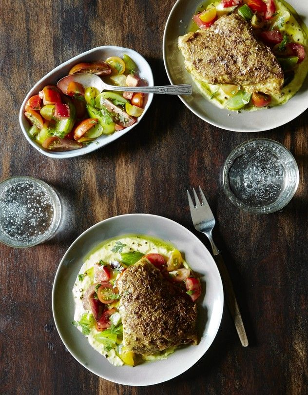 Einat Admony's Recipe for Falafel-Crusted Grouper With Heirloom Tomato Salad