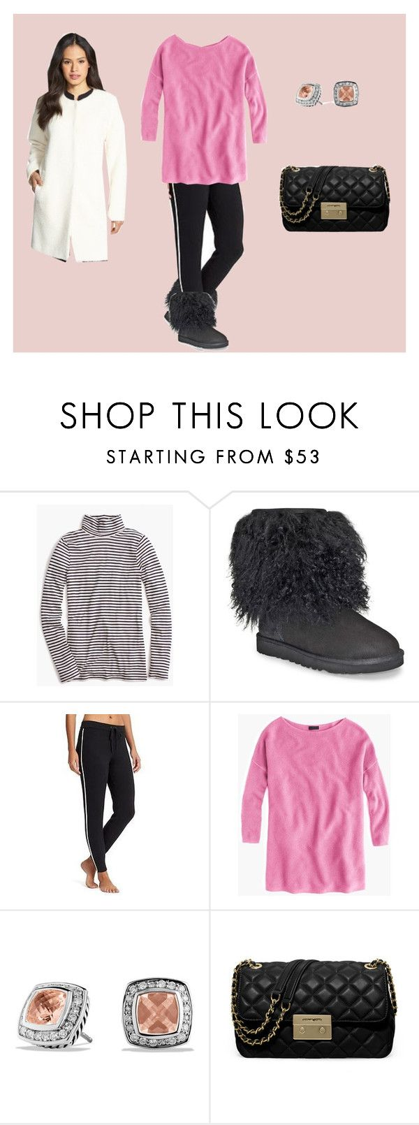"""Sweater Weather Weekend of Jan. 7, 2017"" by bichonluvr ❤ liked on Polyvore featuring J.Crew, UGG, David Yurman, MICHAEL Michael Kors and Eileen Fisher"