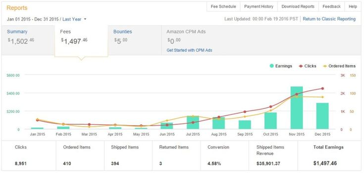My Amazon Earnings 2015 - Make Money with Amazon Project
