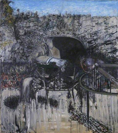 Figure in a Landscape by Francis Bacon