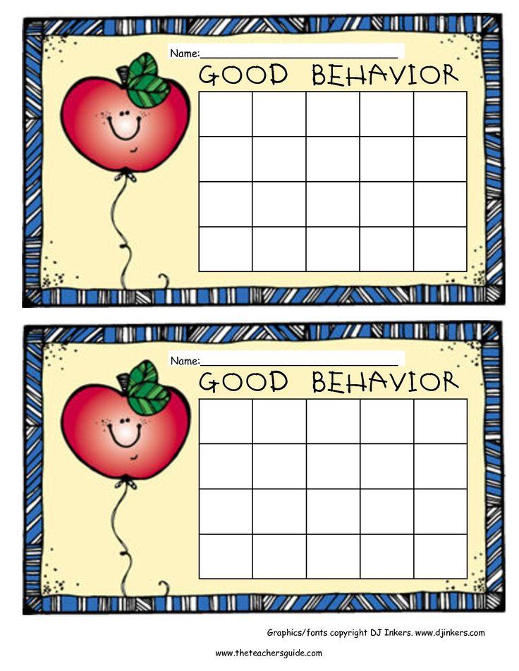 free reward charts for good behavior | Reward chart for good behavior.