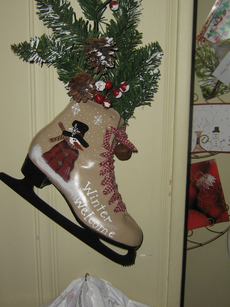 Painted ice skate