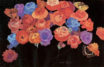 (Korea) Roses 1975 by Chun Kyung-ja (1924-2015). 천경자. 장미.