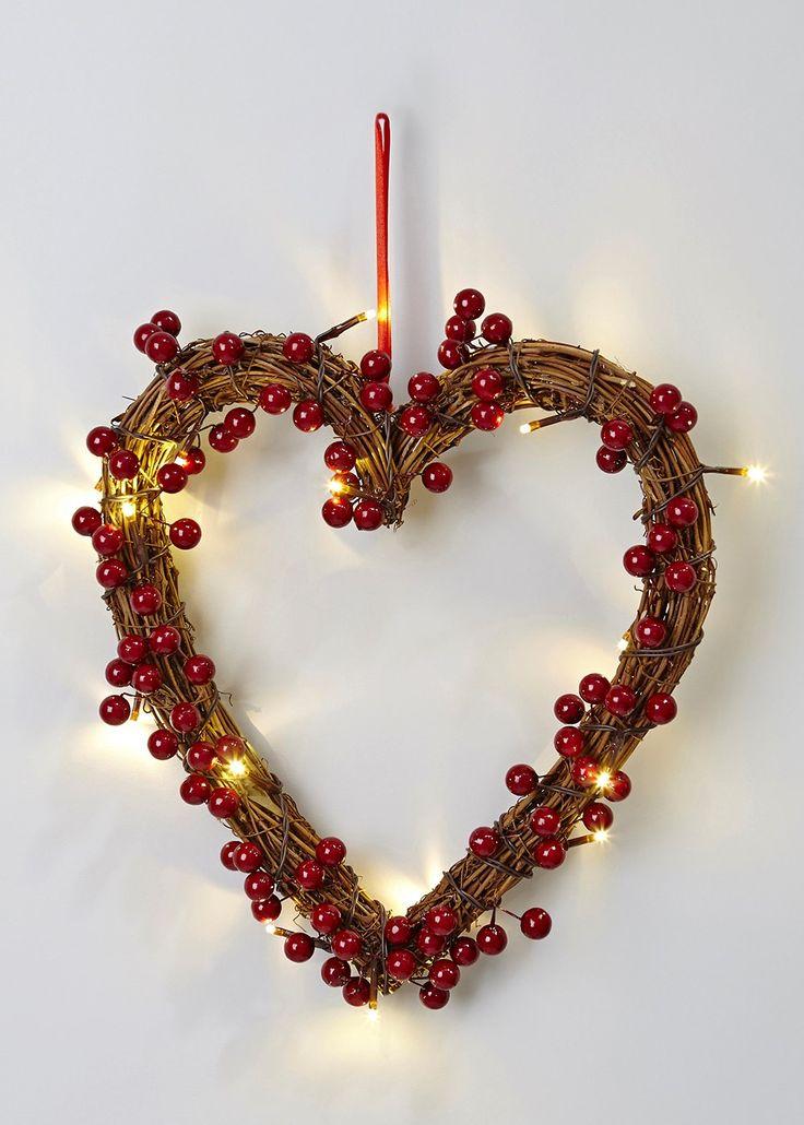 Lighted Christmas Wreath