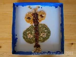 mozaiek van gedroogde bonen