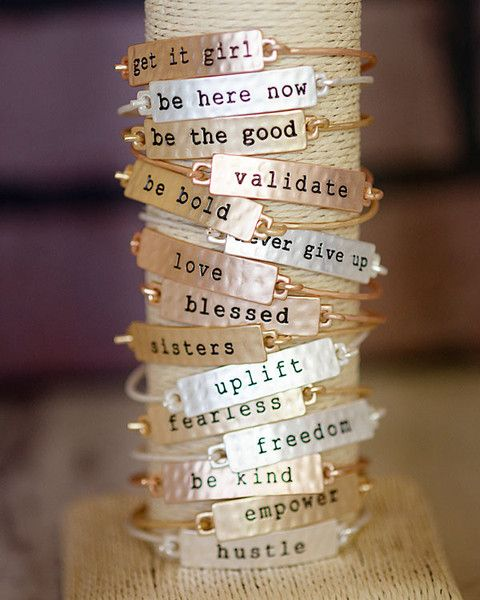 Life is always willing to throw a wrench in the works when you least expect it. So take a deep breath and RISE UP to the challenge. Let this beautiful bracelet be the words of encouragement you need t