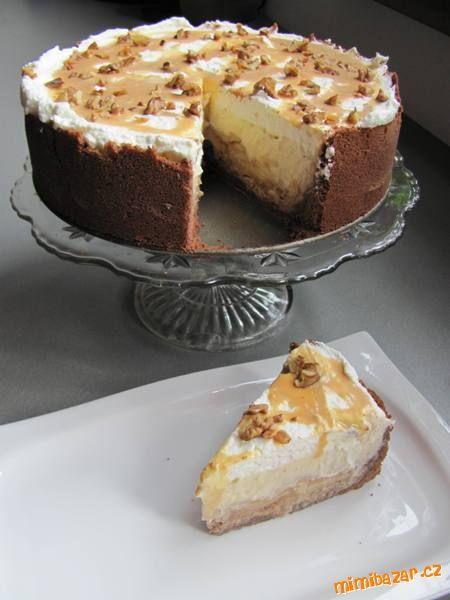 Karamelovo jablkový cheesecake