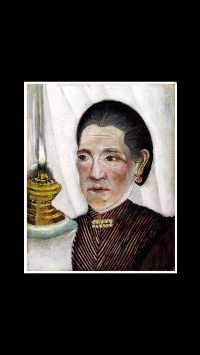 """Henri Rousseau - """" Portrait de la seconde femme de l'artiste  """", 1903 - Huile sur toile - 23 x 19 cm - Collection personnelle de Pablo Picasso - Musée Picasso, Paris"""