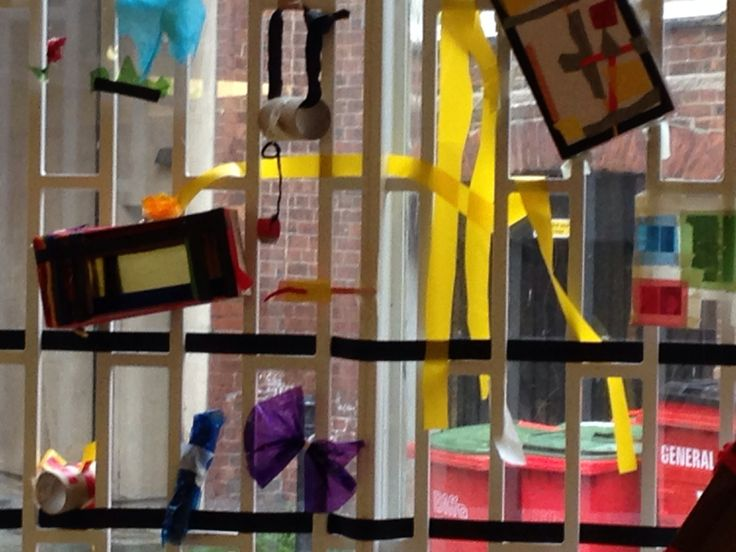 Marlow Moss inspired workshop, creating geometric 3D sculptures inspired by Moss' 2D paintings of light, shape and colour. Leeds Art Gallery, September 2014.