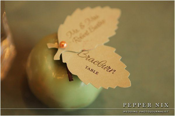 Best Place Card Ideas Wedding Invitations Photos on WeddingWire: Ideas Wedding, Apples Places, Cards Ideas, Fall Places Cards, Place Cards, Apples Escort Cards, Wedding Invitations, Placecard Ideas, Fall Wedding